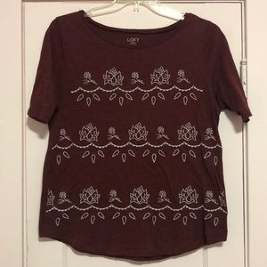 Embroidered LOFT t-shirt